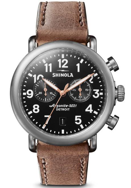 Shinola Runwell Chrono 41mm Steel Brown (S0120095232)