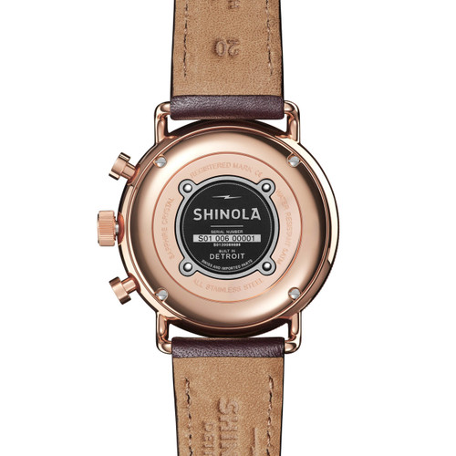 Shinola Canfield Sport Chrono 40mm Rose Gold Brown (S0120089886)