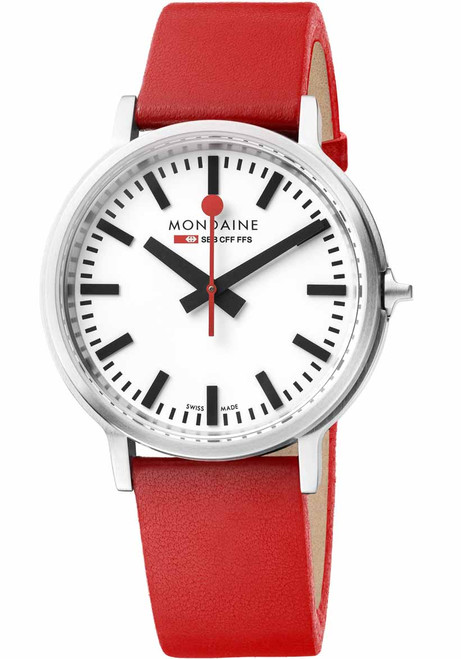 Mondaine stop2go Backlight Swiss Red White (MST.4101B.LC)