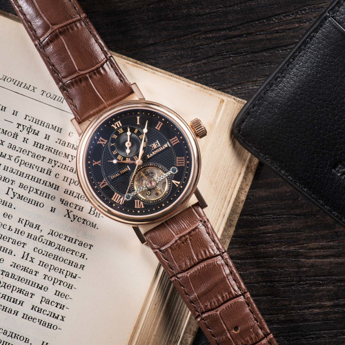 Thomas Earnshaw Beaufort Automatic Rose Gold Brown (ES-8047-04)