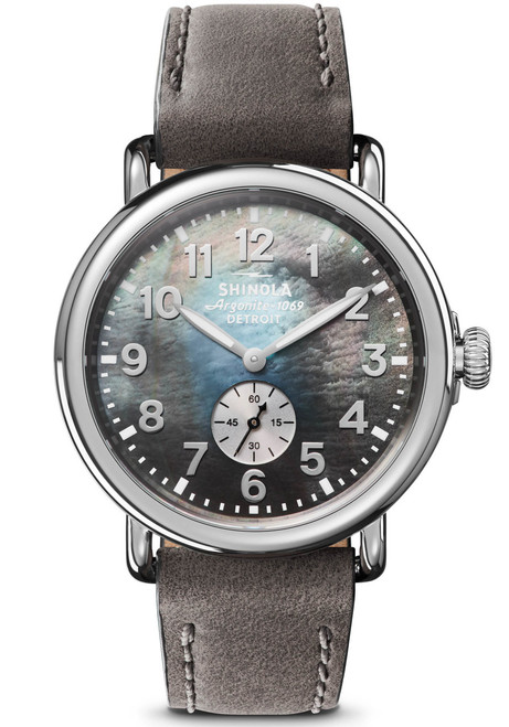 Shinola Runwell 41mm Grey Mother of Pearl (S0120109243)