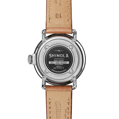 Shinola Runwell Coin Edge 38mm Moon Phase Bourbon (S0120109235)