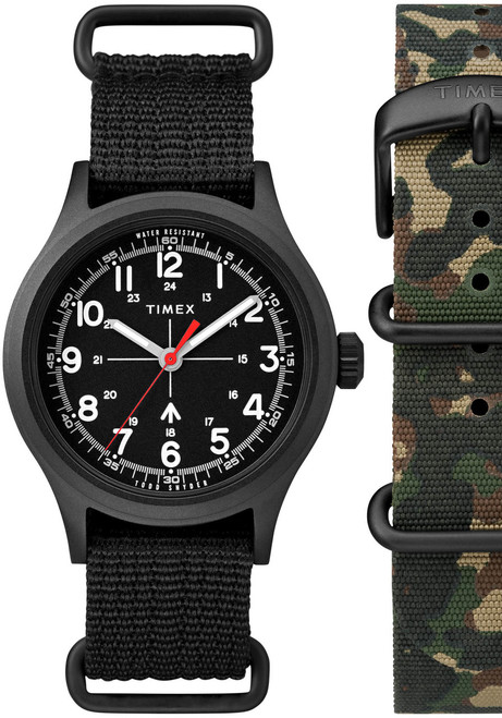Timex Todd Snyder Military All Black Gift Set (TWG017600)