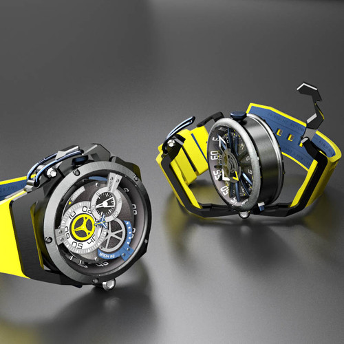 Mazzucato RIM Reversible Automatic Yellow Blue (RIM-06-YL654)