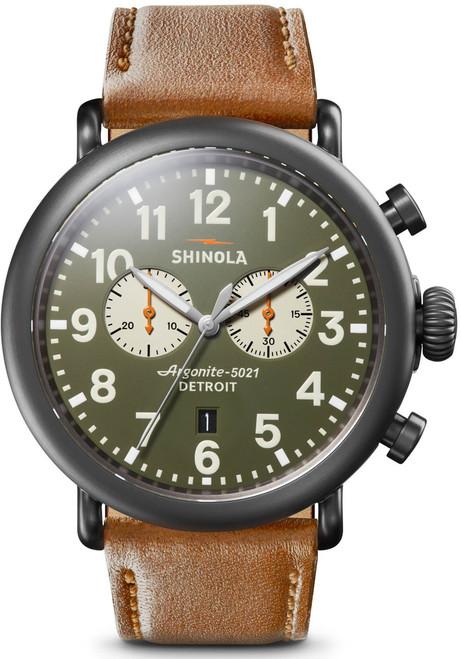 Shinola Runwell Chrono 47mm Gunmetal Green (S0120109237)