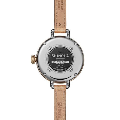 Shinola Birdy 34mm Silver Tan (S0120121836)