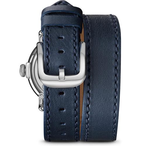 Shinola Runwell 36mm Double Wrap Blue Silver (S0120109244)