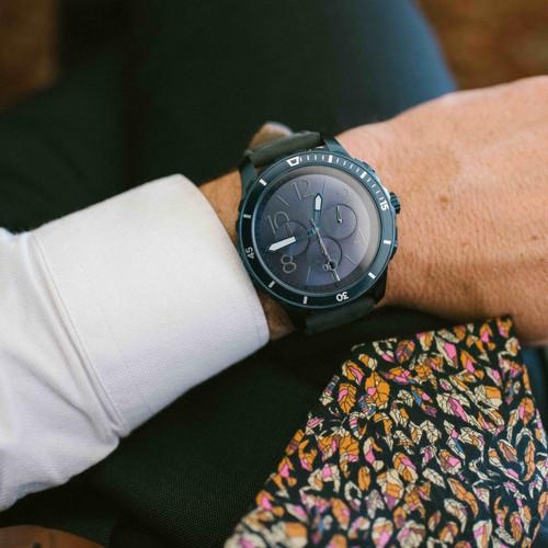 California Watch Co. Mavericks Chrono Leather Deep Blue Gray (MVK-7772-11L)