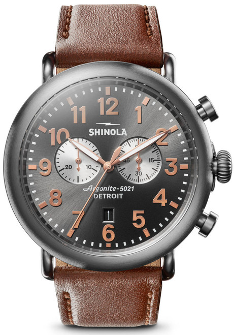 Shinola Runwell Chrono 47mm Brown Gunmetal (S0120109230)
