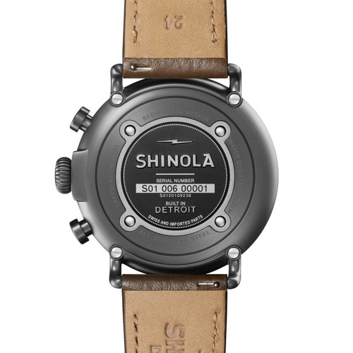 Shinola Runwell Chrono 47mm Brown Silver (S0120109238)