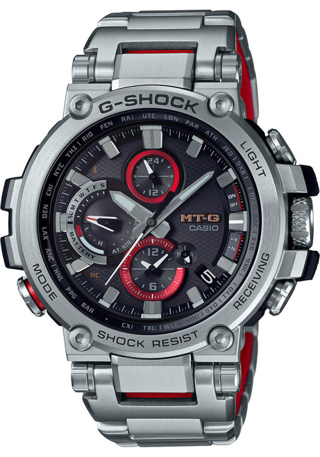 G-Shock MTG-B1000D Connected Silver Red (MTGB1000D-1A)