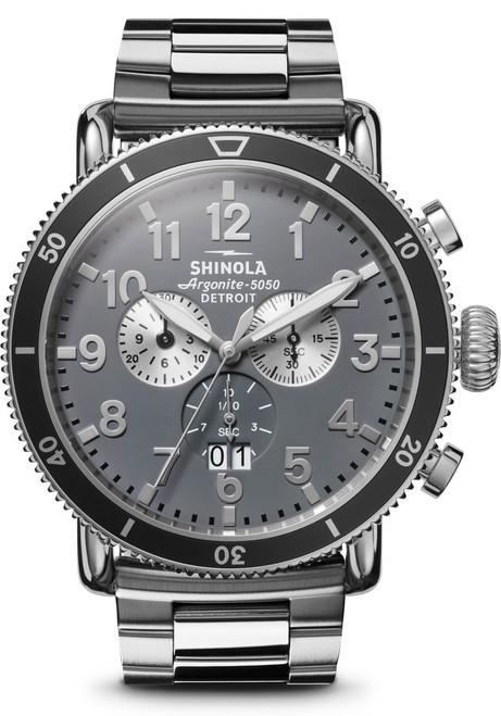 Shinola Runwell Sport Chrono 48mm Silver (S0120121780)