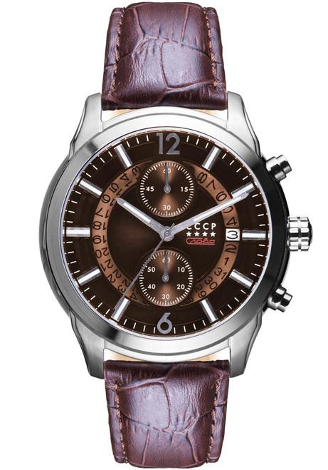 CCCP Balaklava Chronograph Silver Brown (CP-7038-03)