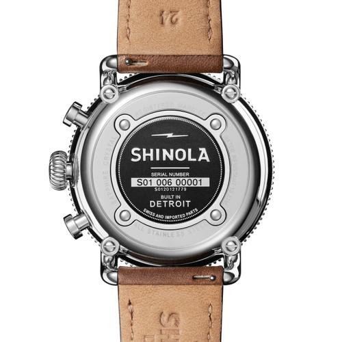 Shinola Runwell Sport Chrono 48mm Silver Tan (S0120121779)