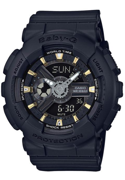 G-Shock BabyG BA-110 Black Gold | Watches.com