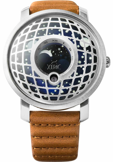 Xeric trappist 1 moonphase silver blue for Watches xeric
