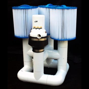 Bottom Feeder 20000 Gallon Pool 120-watt Solar Pump and Filter System