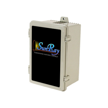 SunRay Solar Controller DC- SOLFLO Pump Motor Showing Data - GPM - Head - Volts - numbers with ie =-PCA-120BLS-M2S