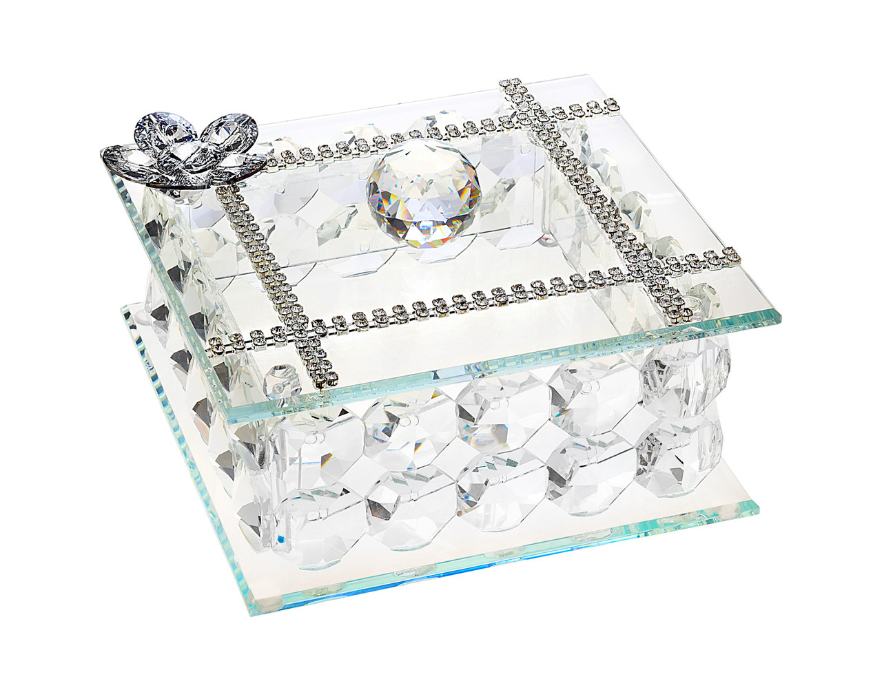 Silver Jewelry Box Wedding Gifts I5thavstore