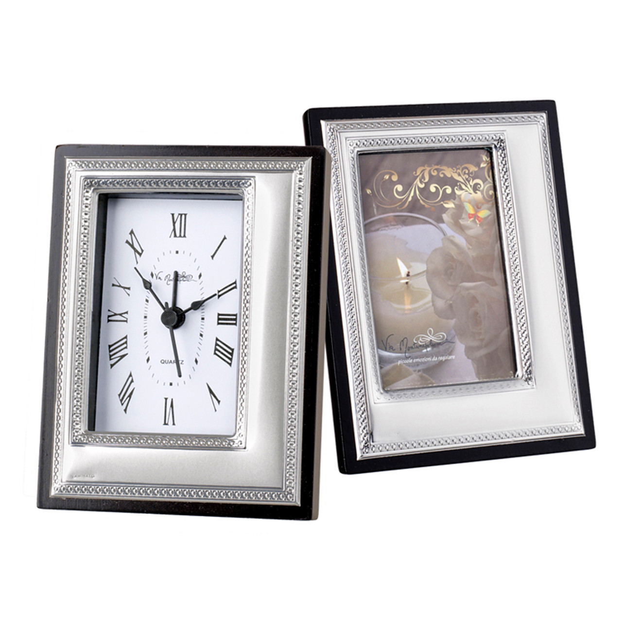 Silver Clock And Picture Frame Wedding Favors I5thavestore
