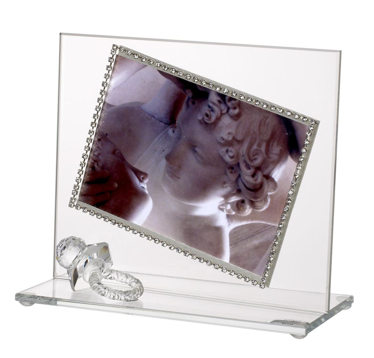Italian Baby Photo Frame with Swarovski Crystal border and Crystal ...