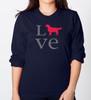Unisex Long Sleeve LOVE Golden T-Shirt