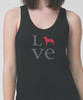 Unisex Love Pitbull Tank Top