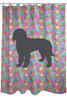 Circle Goldendoodle Shower Curtain