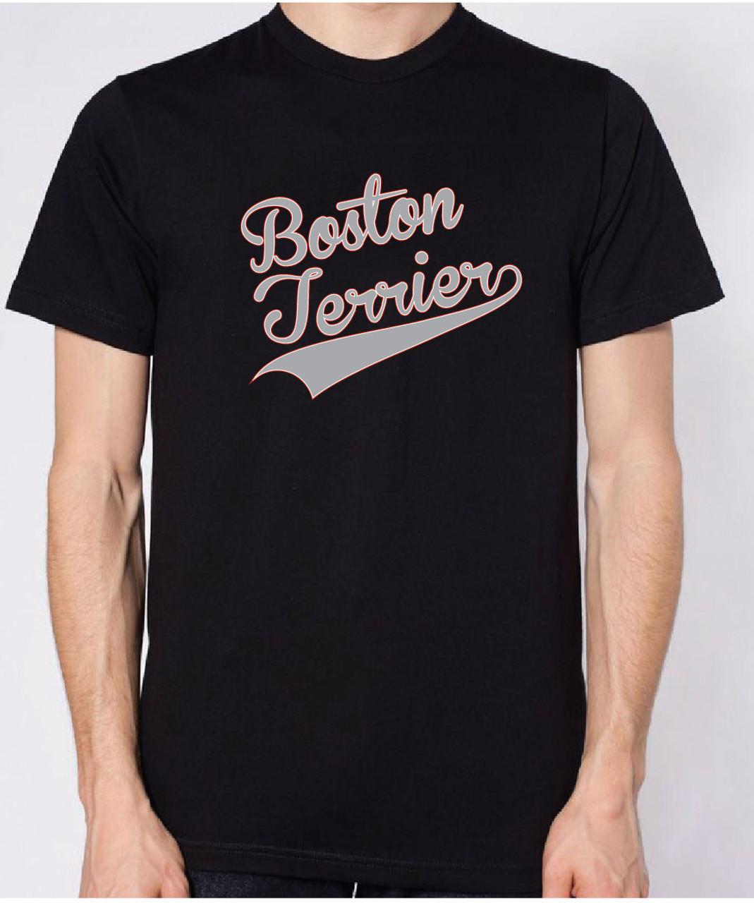 Unisex varsity boston terrier t shirt righteous hound for Boston rescue 2 t shirt