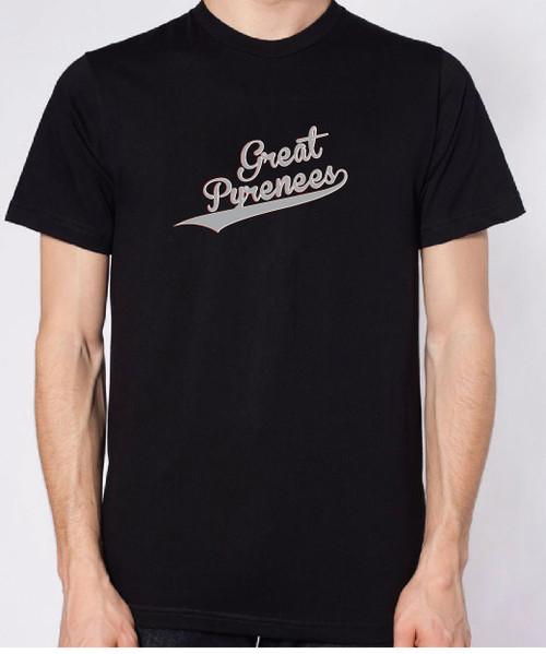 Righteous Hound - Unisex Varsity Great Pyrenees T-Shirt