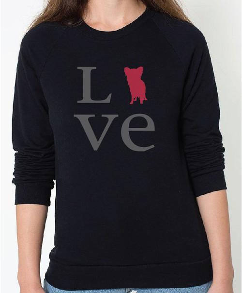 Unisex Love Papillon Sweatshirt