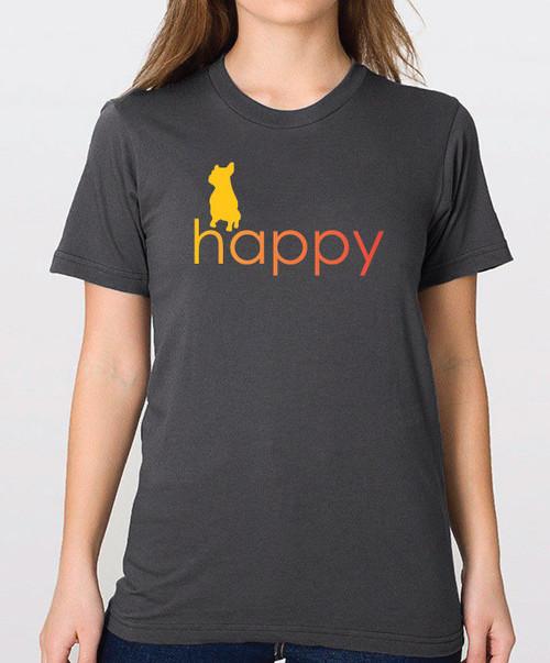 Righteous Hound - Unisex Happy French Bulldog T-Shirt