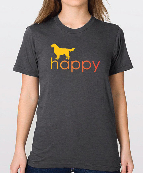 Righteous Hound - Unisex Happy Golden Retriever T-Shirt