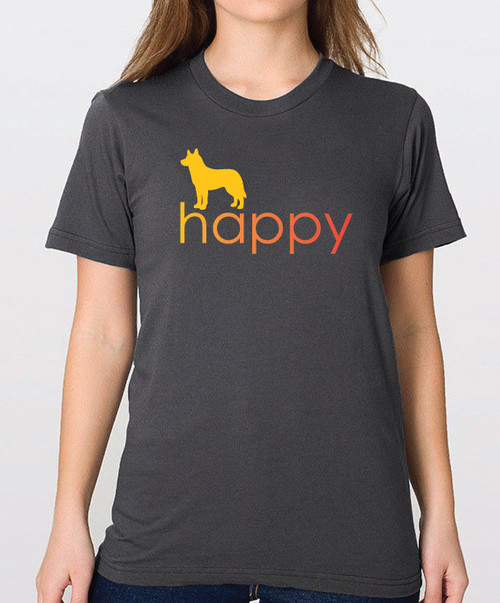 Righteous Hound - Unisex Happy Husky T-Shirt