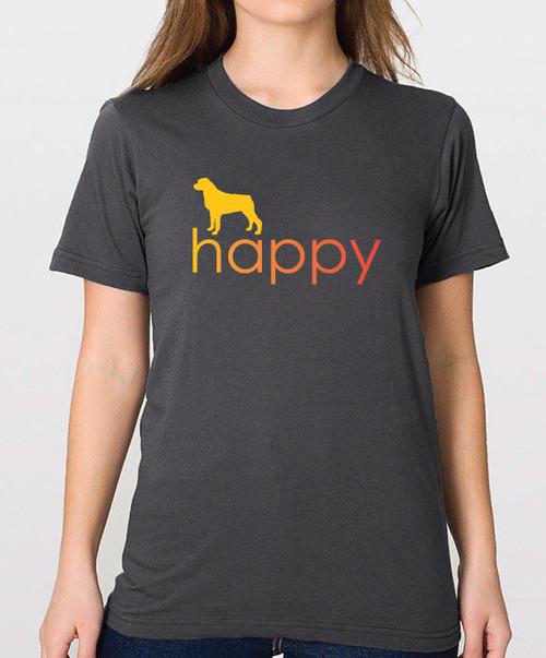 Righteous Hound - Unisex Happy Rottweiler T-Shirt