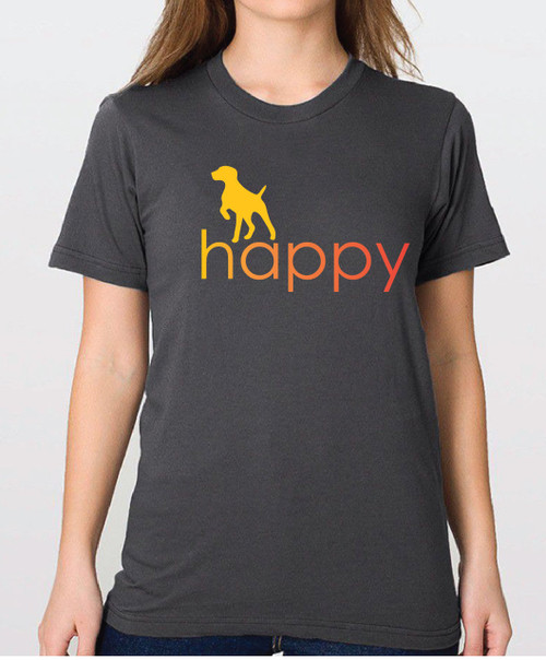 Righteous Hound - Unisex Happy German Shorthaired Pointer T-Shirt