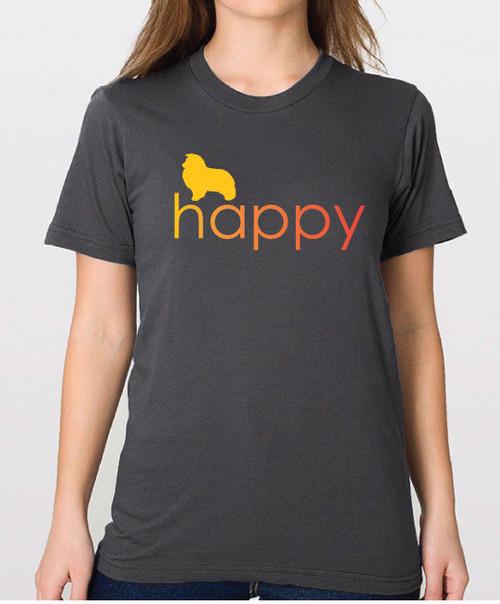 Righteous Hound - Unisex Happy Shetland Sheepdog T-Shirt