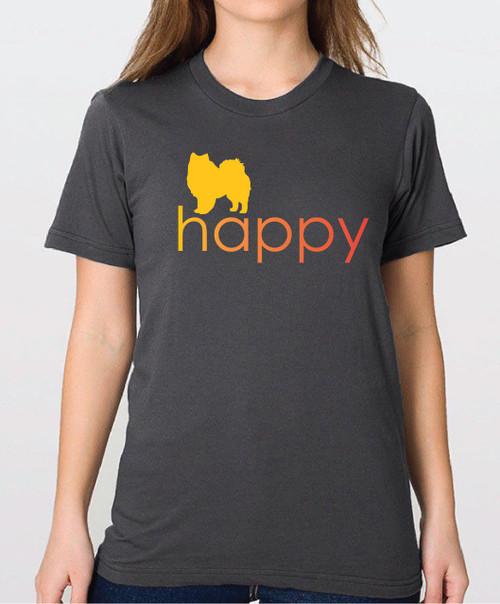 Righteous Hound - Unisex Happy American Eskimo Dog T-Shirt