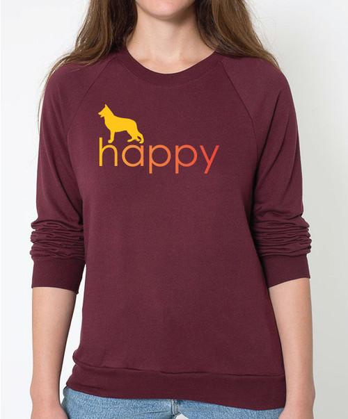 Righteous Hound - Unisex Happy German Shepherd Sweatshirt