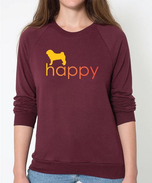 Righteous Hound - Unisex Happy Pug Sweatshirt