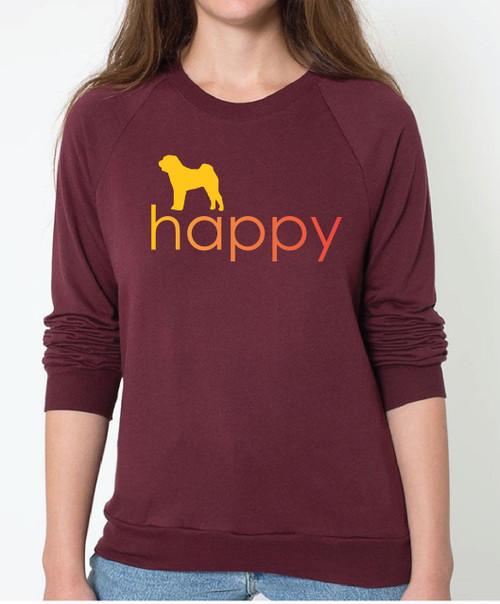 Righteous Hound - Unisex Happy Shar-Pei Sweatshirt