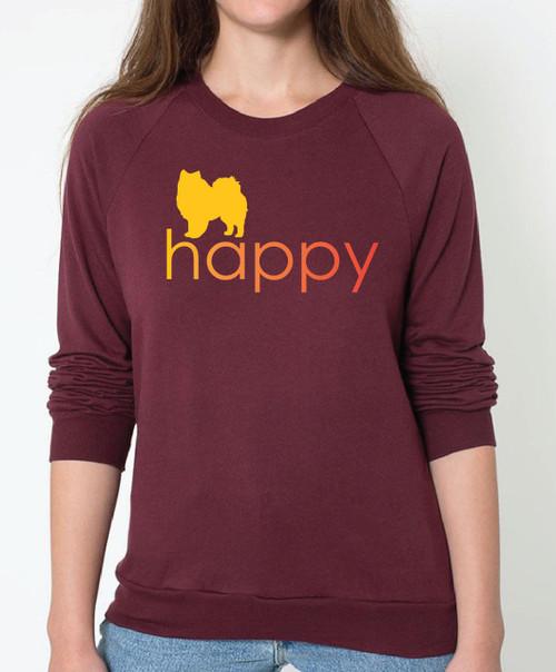 Righteous Hound - Unisex Happy American Eskimo Dog Sweatshirt