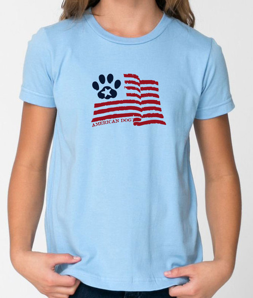 Righteous Hound - Kids Paw Flag Standard T-Shirt