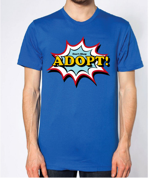 Unisex Comic Art Adopt Shirt