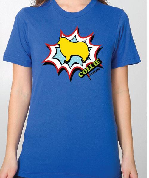 Unisex Comic Collie T-Shirt