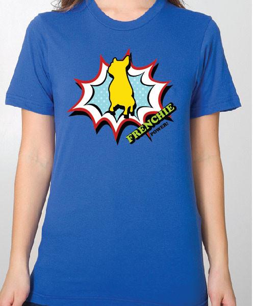 Unisex Comic French Bulldog T-Shirt