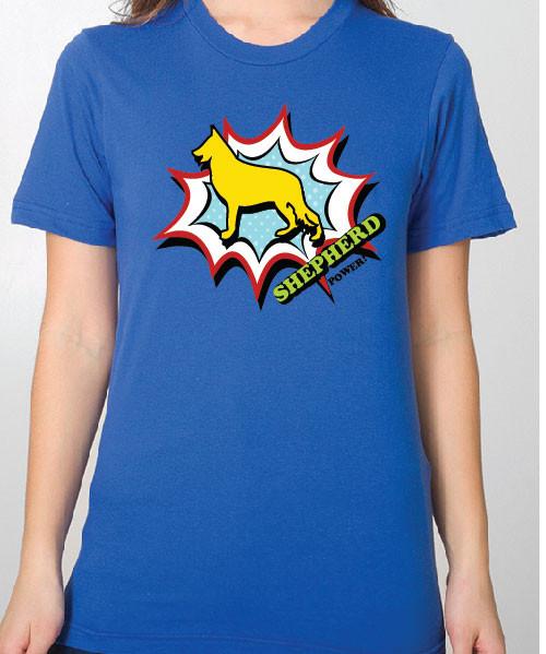 Unisex Comic German Shepherd T-Shirt