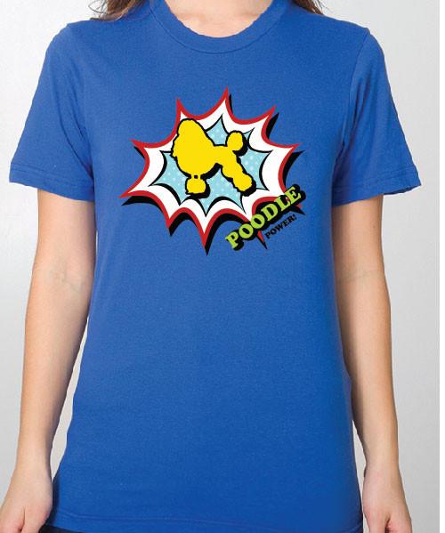 Unisex Comic Poodle T-Shirt