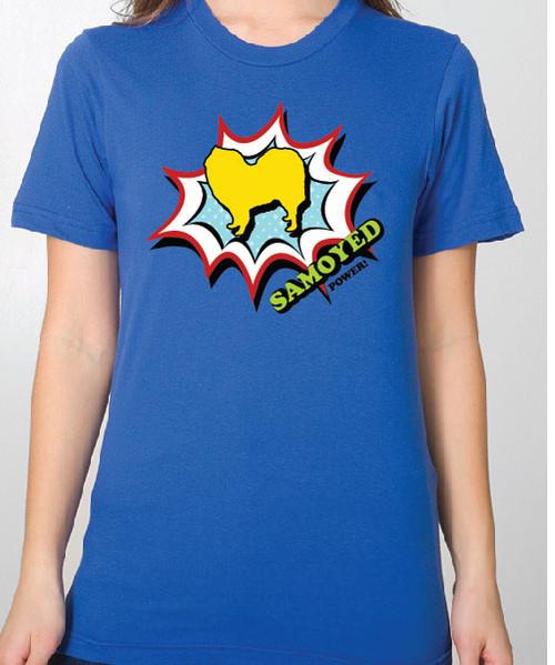 Unisex Comic Samoyed T-Shirt