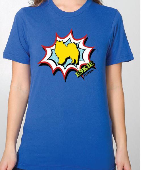 Unisex Comic American Eskimo Dog T-Shirt